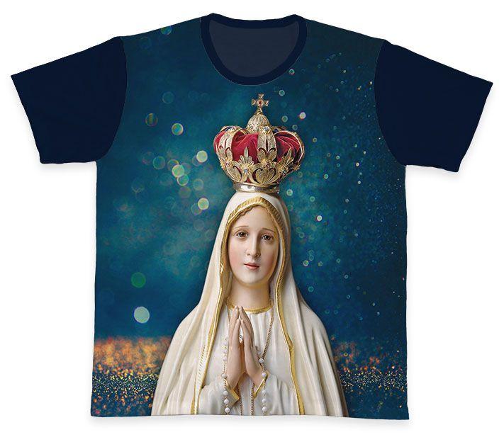 Camiseta REF.0261 - Nossa Senhora de Fátima  - Camisetas Sabatini