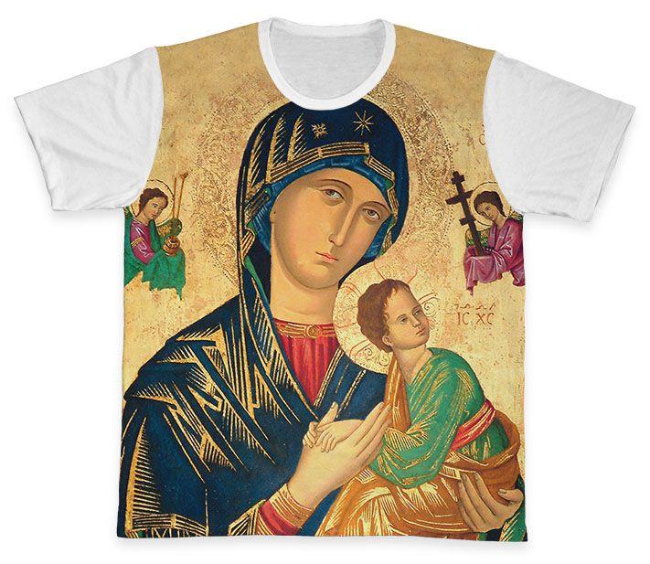 Camiseta REF.0262 - Nossa Senhora do Perpétuo Socorro  - Camisetas Sabatini