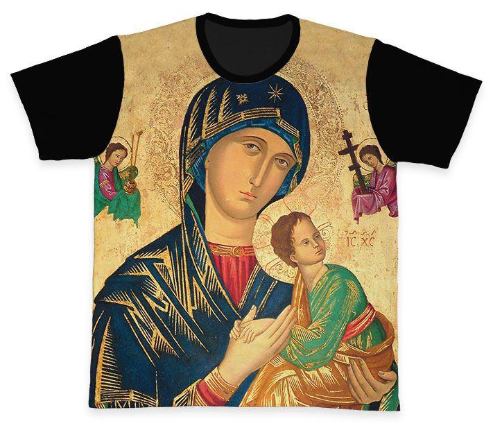 Camiseta REF.0263 - Nossa Senhora do Perpétuo Socorro  - Camisetas Sabatini