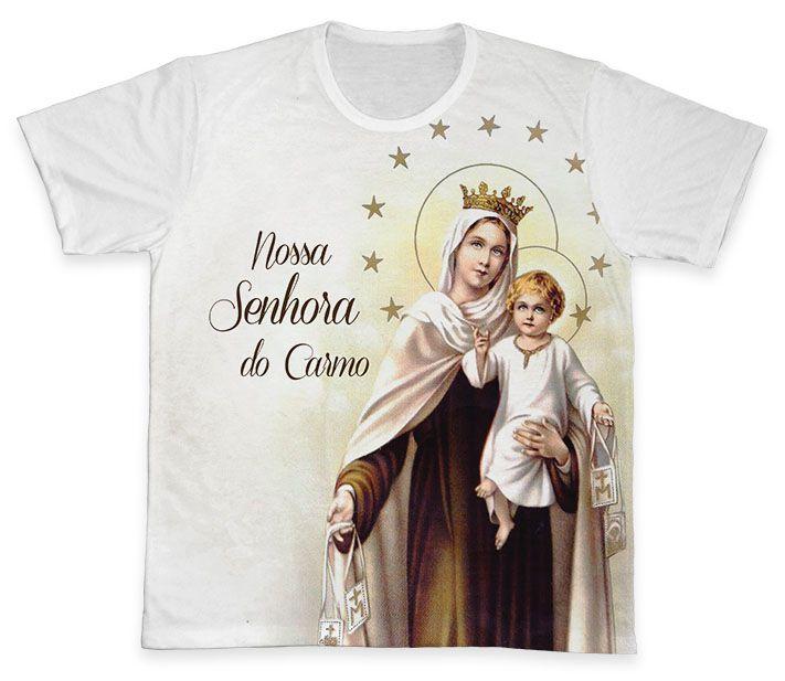 Camiseta REF.0267 - Nossa Senhora do Carmo  - Camisetas Sabatini
