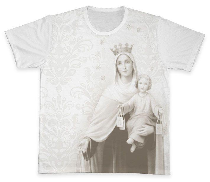 Camiseta REF.0268 - Nossa Senhora do Carmo  - Camisetas Sabatini