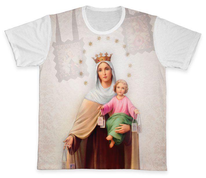 Camiseta REF.0269 - Nossa Senhora do Carmo  - Camisetas Sabatini