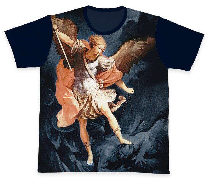 Camiseta REF.0291 - São Miguel Arcanjo  - Camisetas Sabatini
