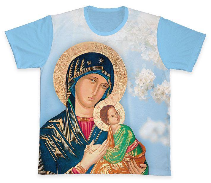 Camiseta REF.0309 - Nossa Senhora do Perpétuo Socorro  - Camisetas Sabatini