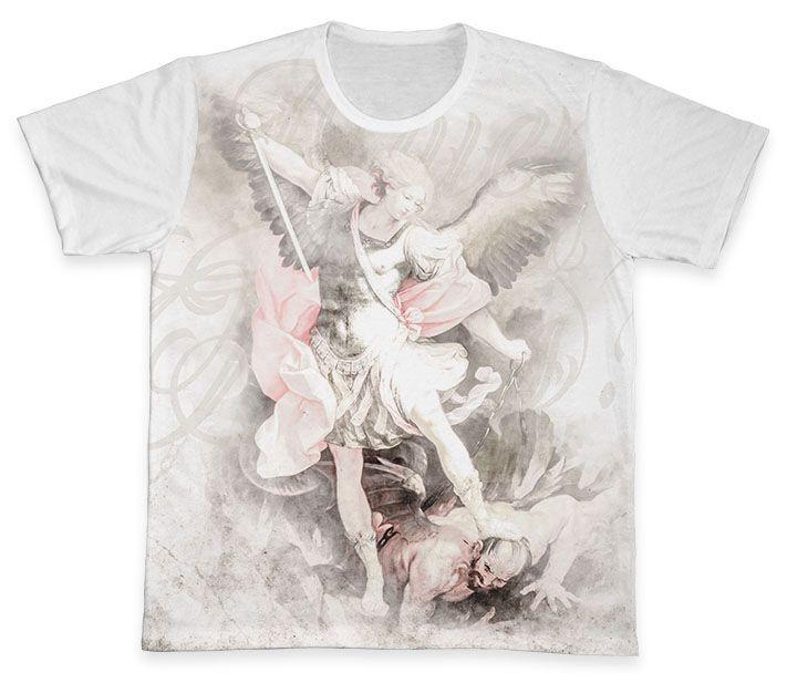 Camiseta REF.0312 - São Miguel Arcanjo  - Camisetas Sabatini