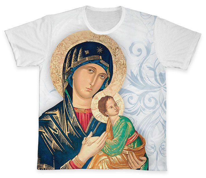 Camiseta REF.0313 - Nossa Senhora do Perpétuo Socorro  - Camisetas Sabatini