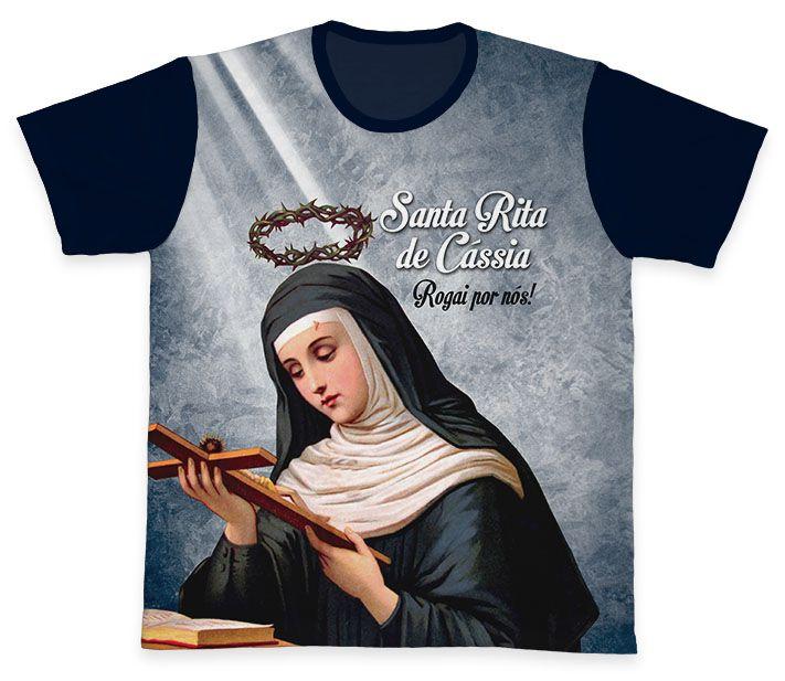 Camiseta REF.0319 - Santa Rita de Cássia  - Camisetas Sabatini