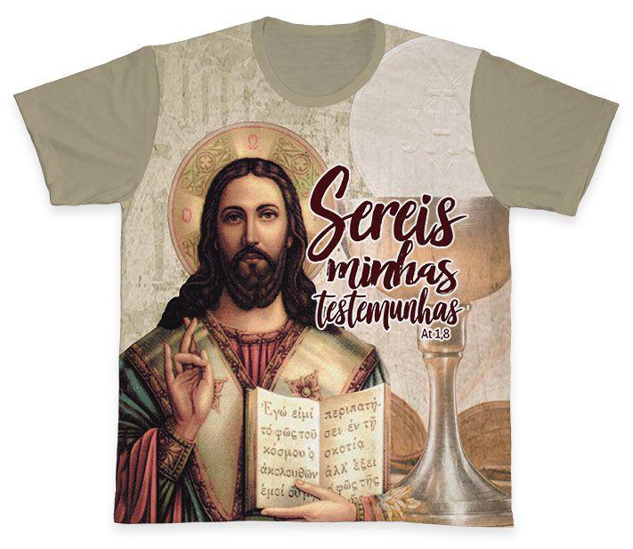 Camiseta REF.0320 - Sereis minhas testemunhas At 1,8  - Camisetas Sabatini