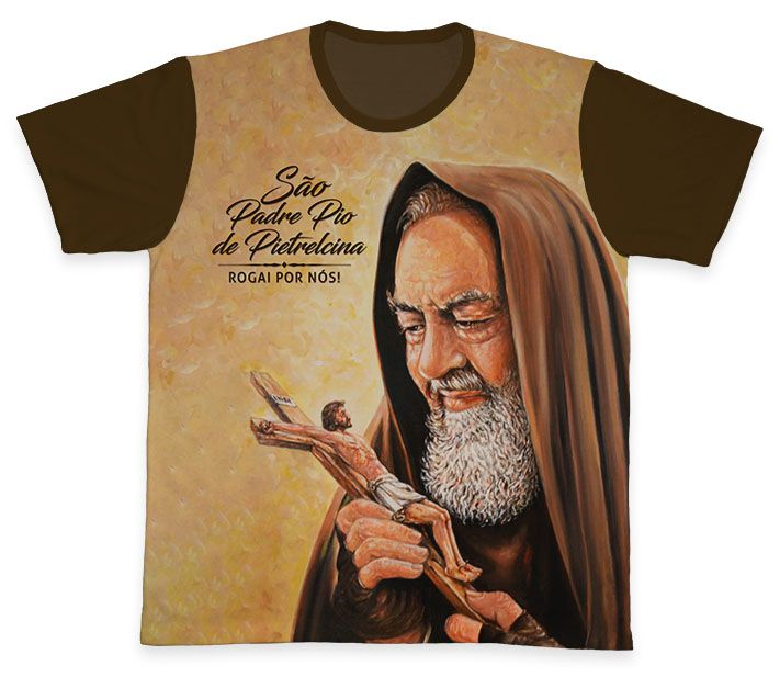 Camiseta REF.0326 - Padre Pio de Pietrelcina  - Camisetas Sabatini