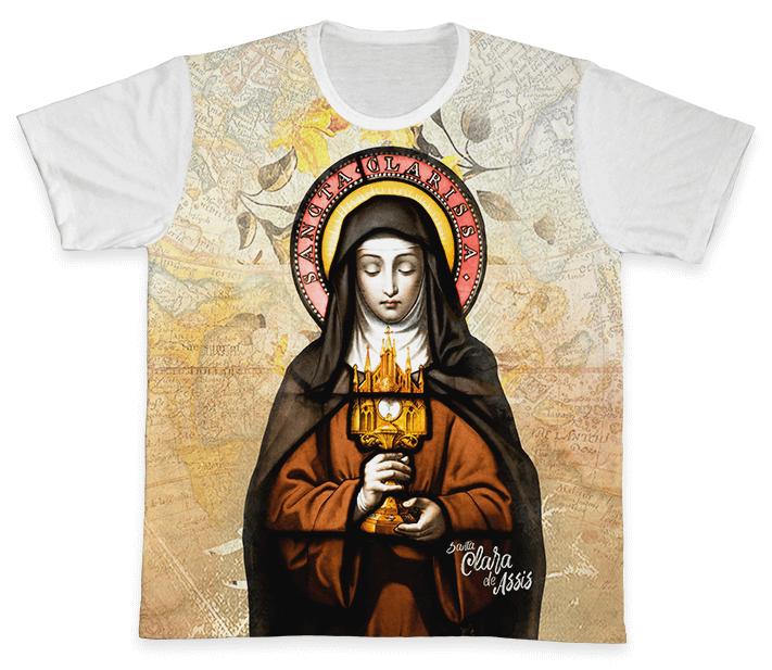 Camiseta REF.0330 - Santa Clara de Assis  - Camisetas Sabatini