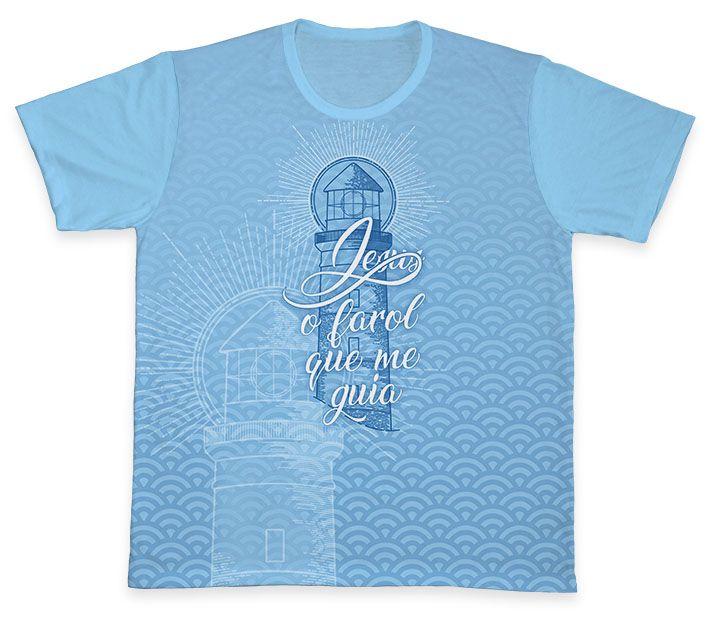 Camiseta REF.0335 - Jesus, o farol que me guia  - Camisetas Sabatini