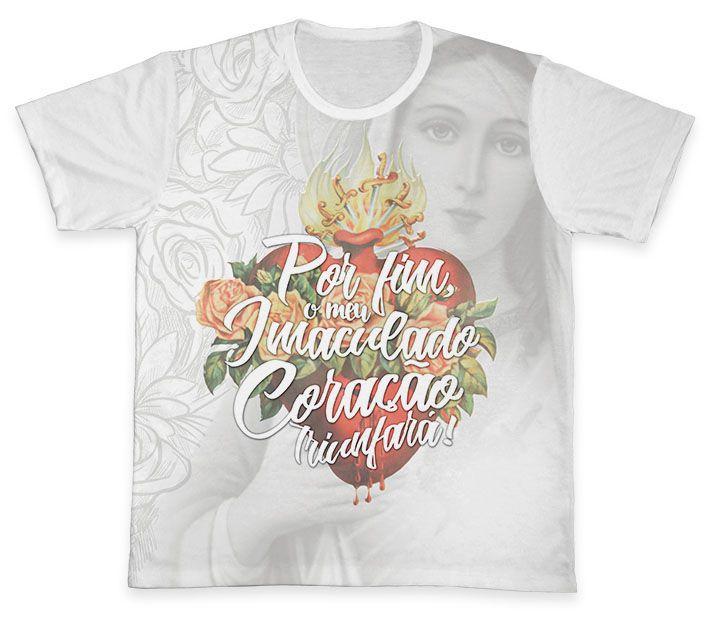Camiseta REF.0336 - Imaculado Coração de Maria  - Camisetas Sabatini