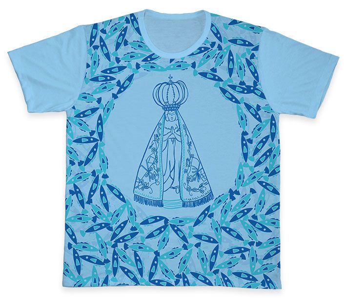 Camiseta REF.0343 - Nossa Senhora Aparecida  - Camisetas Sabatini