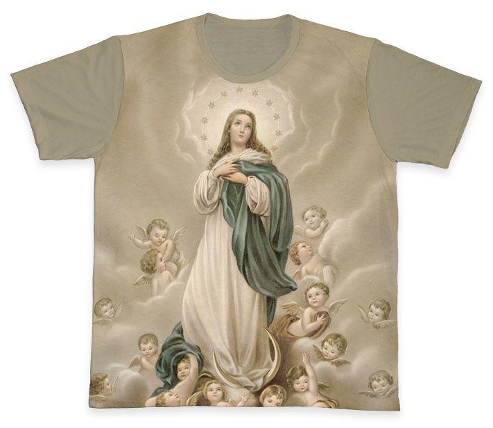 Camiseta REF.0344 - Imaculada Conceição  - Camisetas Sabatini