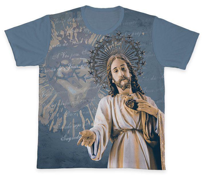 Camiseta REF.0353 - Sagrado Coração de Jesus  - Camisetas Sabatini