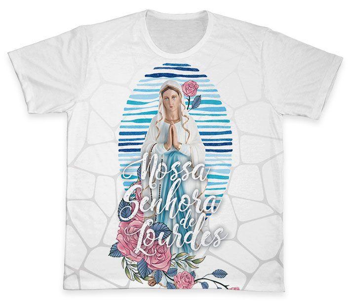 Camiseta REF.0354 - Nossa Senhora de Lourdes  - Camisetas Sabatini