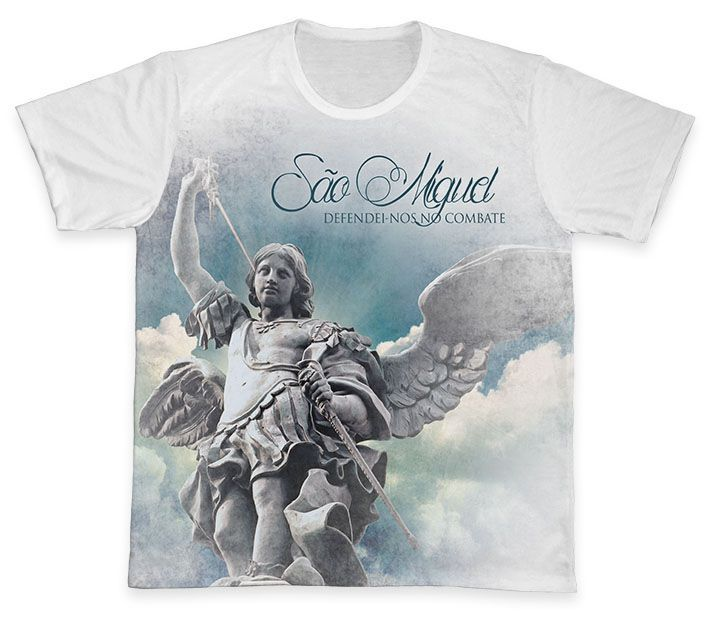 Camiseta REF.0356 - São Miguel Arcanjo  - Camisetas Sabatini