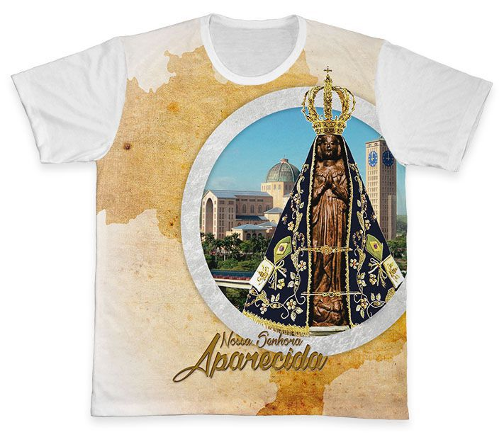 Camiseta REF.0358 - Nossa Senhora Aparecida  - Camisetas Sabatini