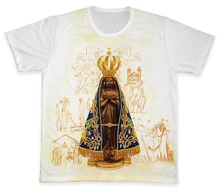 Camiseta REF.0361 - Nossa Senhora Aparecida  - Camisetas Sabatini