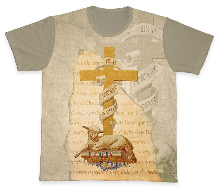 Camiseta REF.0362 - Cordeiro de Deus  - Camisetas Sabatini