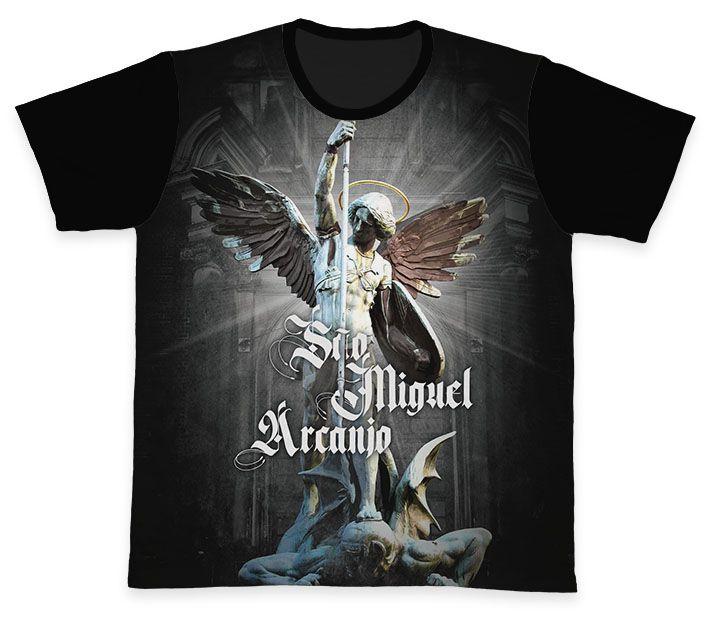 Camiseta REF.0370 - São Miguel Arcanjo  - Camisetas Sabatini