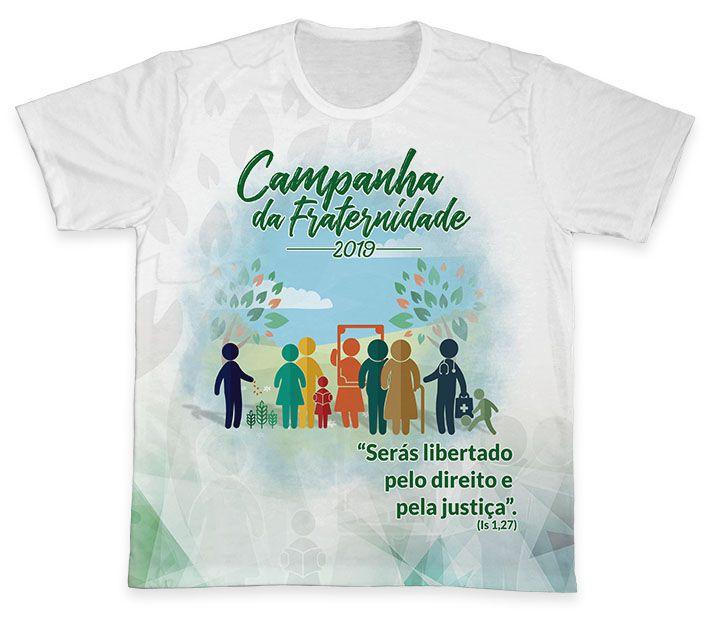 Camiseta REF.0376 - Campanha da Fraternidade 2019  - Camisetas Sabatini