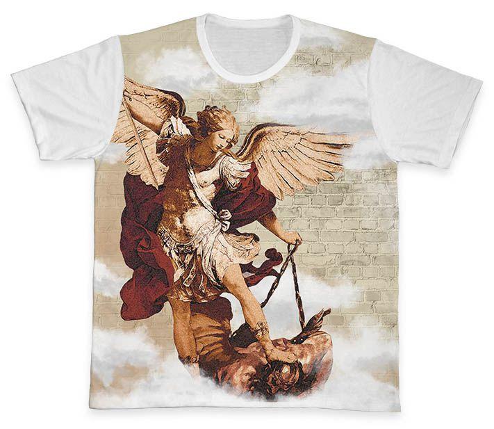 Camiseta REF.0392 - São Miguel Arcanjo  - Camisetas Sabatini