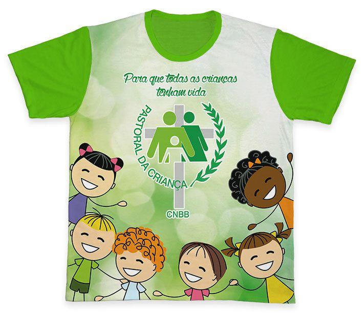 Camiseta REF.0704 - Pastoral da Criança  - Camisetas Sabatini
