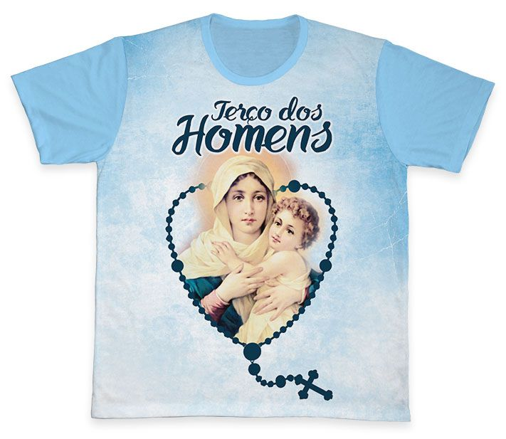 Camiseta REF.0821 - Terço dos Homens  - Camisetas Sabatini