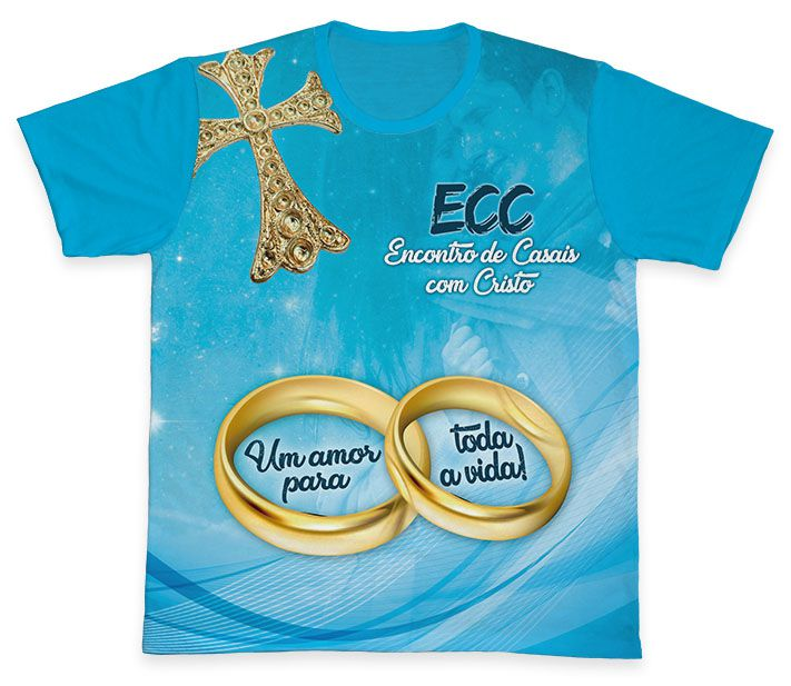 Camiseta REF.0850 - ECC - Encontro de Casais com Cristo  - Camisetas Sabatini