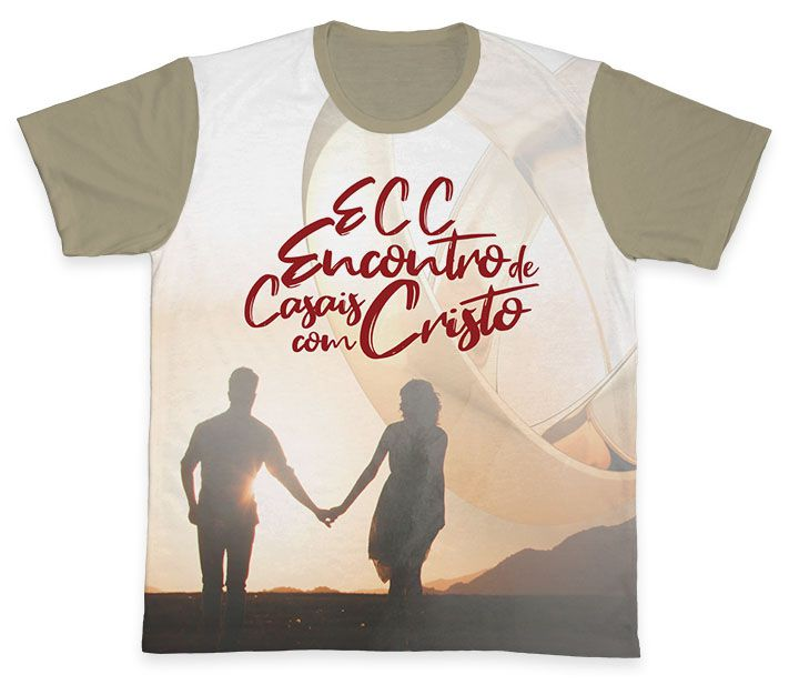 Camiseta REF.0856 - ECC - Encontro de Casais com Cristo  - Camisetas Sabatini