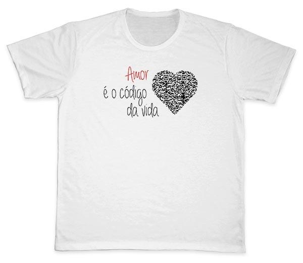 Camiseta Ref. 5609 - Amor é o Código da Vida