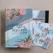 Bíblia Fé Ilustrada + Abas Florais (disponível a partir 12/8)
