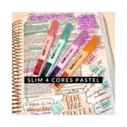 Caneta Marca-Texto SLIM 4 cores PASTEL