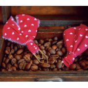 clips de tecido feito à mão (coração)