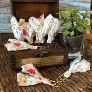 clips de tecido feito à mão (natureza)