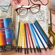 Lápis 12 cores Boho