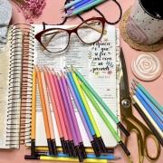Lápis 24 Cores Pastel