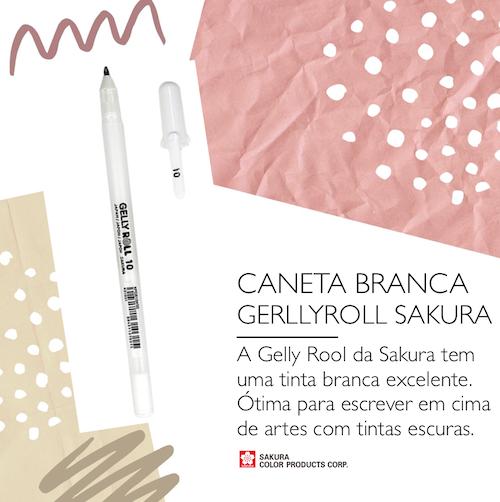 Caneta Branca GellyRoll - Sakura
