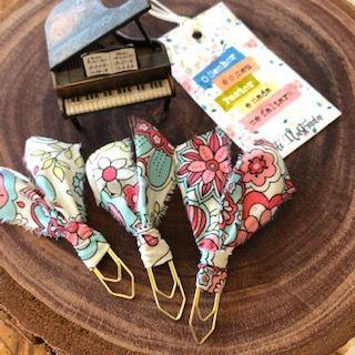clips de tecido feito à mão (florais)   -  Fé Ilustrada