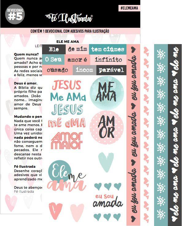 coleção devocionais 1 ao 5  -  Fé Ilustrada