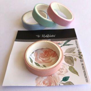 washi tape rosé  -  Fé Ilustrada