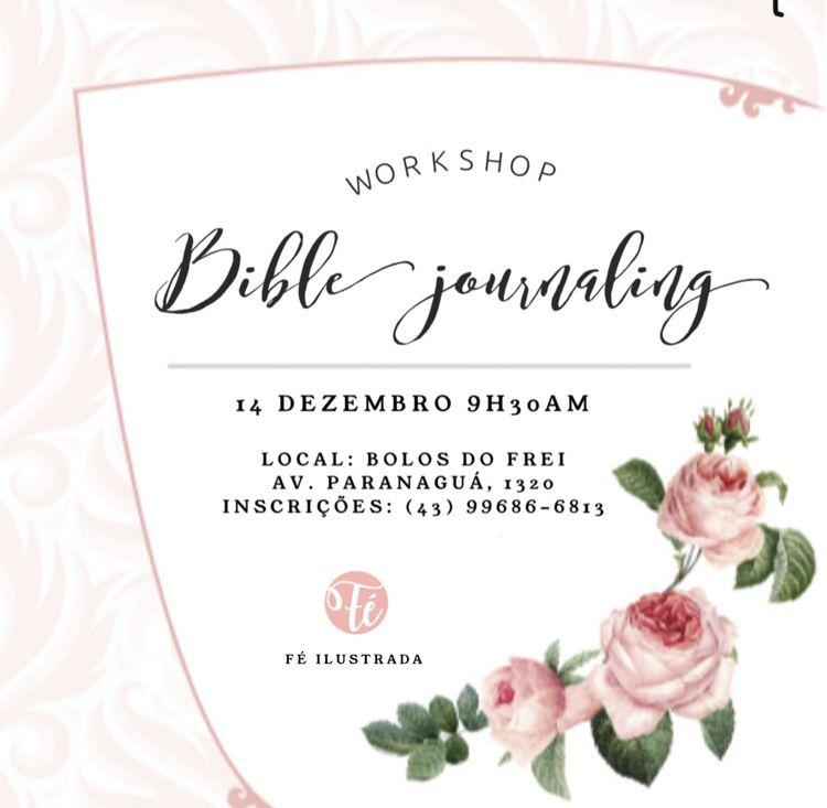 Workshop Bible Journaling Fé Ilustrada   -  Fé Ilustrada