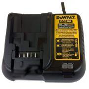 Carregador A Bateria 12v A 20v Lition Lon Bivolt Dcb107 Dewalt