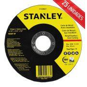 DISCO DE CORTE 4.1/2 X 1MM STANLEY INOX - STA8061 - 25 UNIDADES