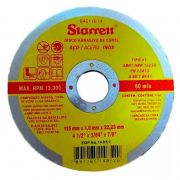 """Disco de Corte 4.1/2"""" X 1MM Starrett Inox"""