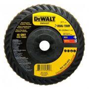"""Disco Flap 7"""" Grão 40 Cerâmico Dual-Trim Dw8422t Dewalt"""