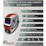 MASCARA DE SOLDA AUTO ESCURECIMENTO 9 A 13 SAINTS