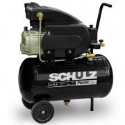 Motocompressor De Ar CSI 8,5/25LT Com Rodas 2,0CV 220V Monofásico Pratic Air Schulz