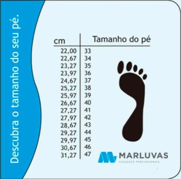 Botina Amarrar Bico De Plástico Nº 43 11SFB41-BP MARLUVAS
